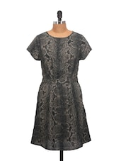 Printed Black Colored Summer Dress - La Zoire