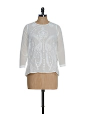 Ethereal White Embroidered Top - La Zoire