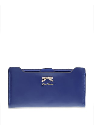 Stylish Blue Wallet with Zip Closure -  online shopping for Wallets & Card holders
