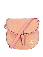 Pink Leather Sling Bag - Lino Perros