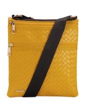 Yellow Mat Design Sling Bag - Lino Perros