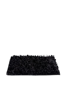 Black Snowball And Fur Design Floor Mat - Cosmos Galaxy