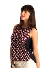 Black Parrot Print Sleeveless Top - PrettySecrets
