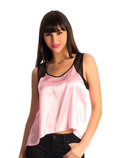 Pretty Pink Mesh High Low Hem Top - PrettySecrets