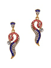 Unique Crystal Studded Long Earrings - Subh