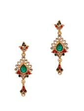 Crystal Studded Ethnic Earrings - Subh