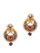 Crystal Studded Chaandbali Earrings - Subh