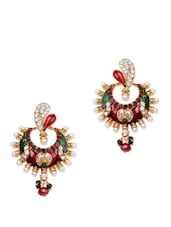 Bright Crystal Studded Chaandbali Earrings - Subh