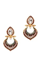 Crystal Studded Ethnic Earrings - Subh