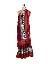 Festive Bhagalpuri Khaadi Saree With Blouse Piece - PetraFab