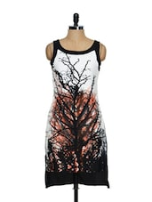 Tree Print High-low Dress - Magnetic Designs