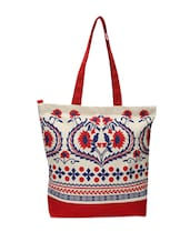 Gorgeous Red and White Floral shopping Bag -  online shopping for Shopping Bags