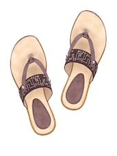 Brown Stylish Slip-ons - Shibha