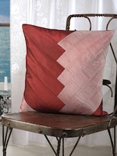 Purple And Maroon Diagonal Stripe Cushion Cover(Pack Of 5) - Dekor World