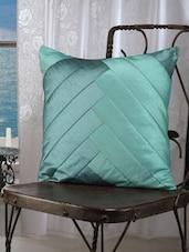Turquoise Blue Diagonal Stripe Cushion Cover(set Of 5) - Dekor World