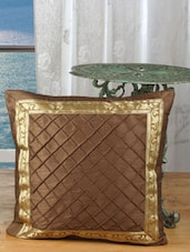 Brown Pintek Lace Ethnic Cushion Cover(Pack Of 5) - Dekor World