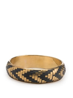 Black and Gold Bangle - Toniq