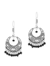 Earrings With Black Beads - Voylla