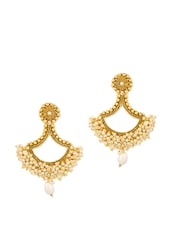 Faux Pearl Embellished Earrings - Voylla