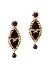 Exquisite Earrings With Black Stones - Voylla