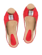 Glamorous Red Hot Party Wedge Heels Sandals - Stylistry