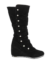 Gorgeous Knee High Black Boots - Stylistry