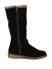Amazing Black Boots With Comfortable Sole - Stylistry