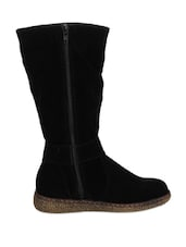 Knee High Stark Black Boots - Stylistry
