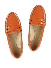 Orange Stylish Loafers - Stylistry