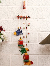 Terracotta Bells N Birds Wind Chime - Unravel India
