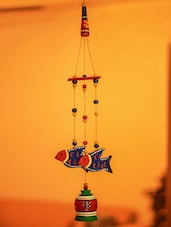 Terracotta Bells And Birds Wind Chime - Unravel India