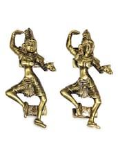 Tribal Dance Brass Door Handle(Set Of 2) - Unravel India