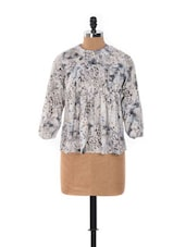 Animal Print Pleated Top - House Of Tantrums