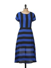Blue And Black Striped Dress - Meira