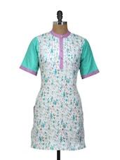 Floral Print Cotton Kurti - Yepme