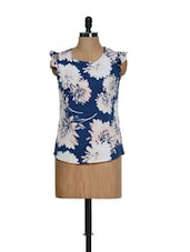 Navy Floral Top - Popnetic