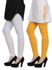 Cotton Lycra Leggings- Pack Of 2 - By - 892856