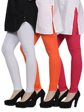 Cotton Lycra Leggings- Pack Of 3 - By - 893138