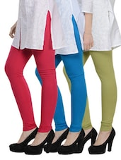 Cotton Lycra Leggings- Pack Of 3 - By - 893162