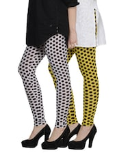Cotton Lycra Leggings- Pack Of 2 - By - 893306