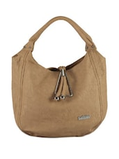 Chic Brown Silver Touch Bag - Calvino
