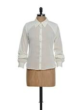 Offwhite Full-sleeved Polyester Shirt - Hypernation