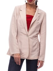 Nude poly crepe formal blazer -  online shopping for Blazers