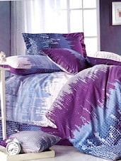 City Line Printed Micro Cotton Extra Large Size Flat Bed Sheet Set - Just Linen