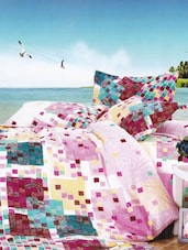 Multicolored Checks Printed Micro Cotton Double AC Comforter - Just Linen