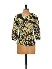 Black And Yellow Printed Top - Thegudlook