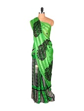 Light Green Paisley Saree - Saraswati