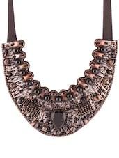 Black Beaded Trendy Necklace - 80N