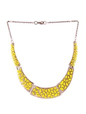 Trendy Yellow Necklace - 80N