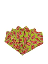 Passion Paisley Green Hand Towels Set Of 6 - The Elephant Company